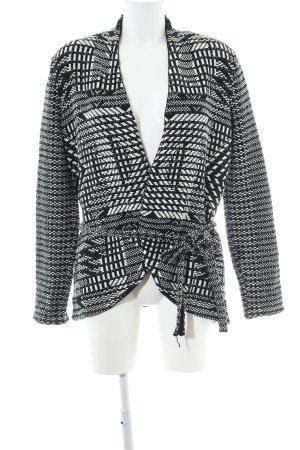 H&M Strick Cardigan schwarz-weiß abstraktes Muster Casual-Look
