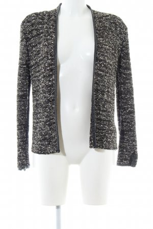 H&M Strick Cardigan schwarz-creme meliert Business-Look