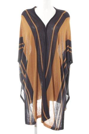 H&M Strick Cardigan camel-dunkelblau Streifenmuster Casual-Look