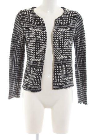 H&M Strick Cardigan schwarz-weiß Allover-Druck Business-Look