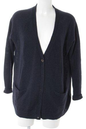 H&M Strick Cardigan dunkelblau Kuschel-Optik