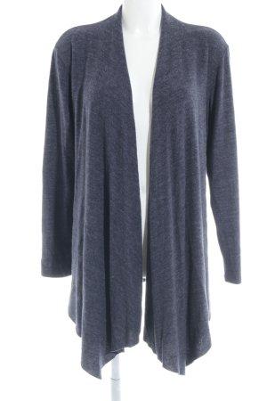 H&M Gebreide cardigan donkerblauw gestippeld casual uitstraling