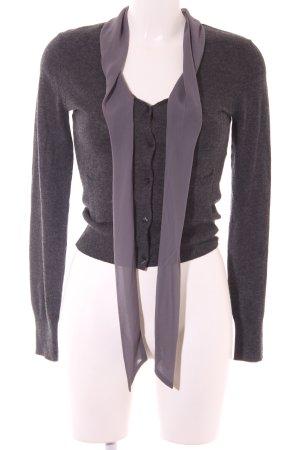 H&M Strick Cardigan dunkelgrau-grau Elegant