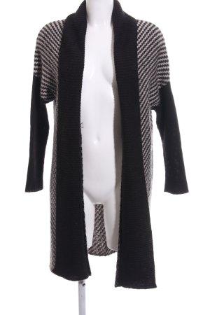 H&M Strick Cardigan schwarz-wollweiß Casual-Look