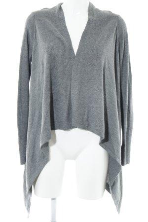 H&M Strick Cardigan grau-hellgrau meliert Casual-Look