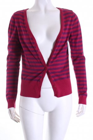 H&M Strick Cardigan pink-lila Streifenmuster Casual-Look