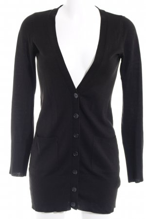 H&M Strick Cardigan schwarz Casual-Look