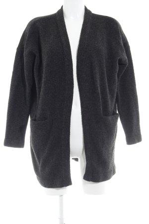 H&M Strick Cardigan schwarz-grau meliert Casual-Look
