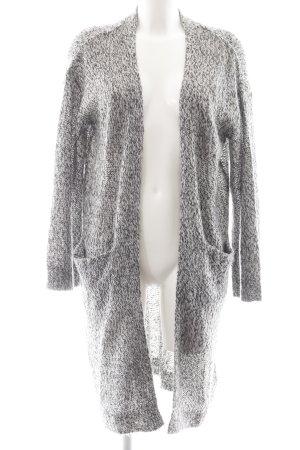 H&M Strick Cardigan schwarz-wollweiß meliert Casual-Look
