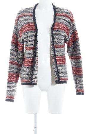 H&M Strick Cardigan Streifenmuster Boho-Look