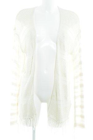 H&M Cardigan tricotés blanc cassé motif tricoté lâche style Boho