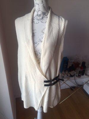 H&M Cache-cœur en tricot blanc cassé-noir