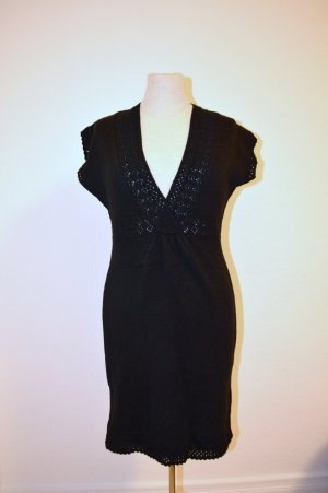 H&M Strick Dress Black Gr. 34 XS Neu