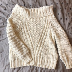 H&M Cable Sweater natural white
