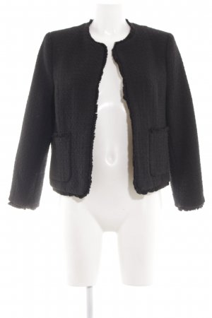 H&M Knitted Blazer black business style