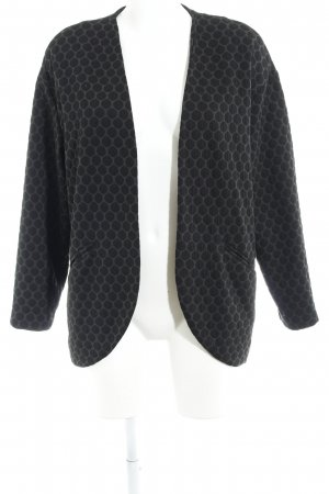 H&M Strickblazer anthrazit-schwarz Punktemuster