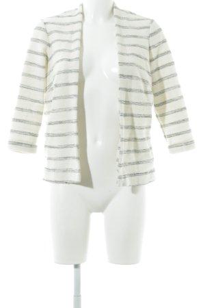 H&M Blazer in maglia crema-grigio scuro motivo a righe Stile Boho