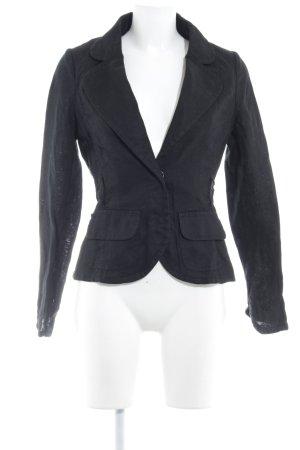 H&M Strickblazer schwarz Business-Look