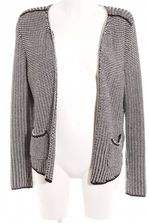H&M Strickblazer schwarz-weiß Business-Look