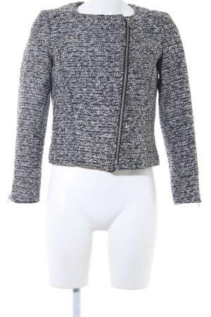 H&M Gebreide blazer wit-zwart gestippeld klassieke stijl