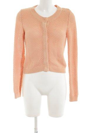 H&M Boléro en tricot orange clair torsades style décontracté