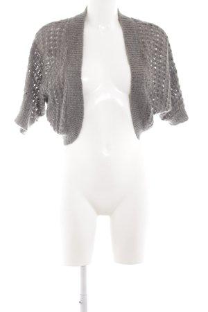H&M Torera de punto gris claro punto trenzado elegante