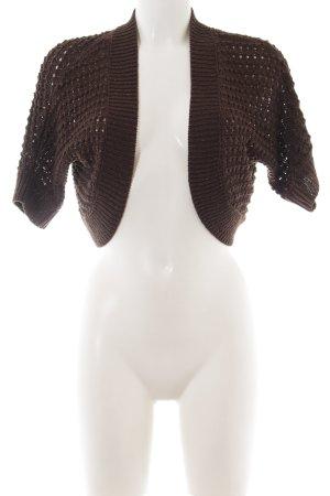 H&M Bolero lavorato a maglia marrone punto treccia stile casual