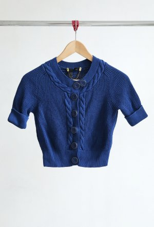 H&M Knitted Bolero blue-gold-colored cotton