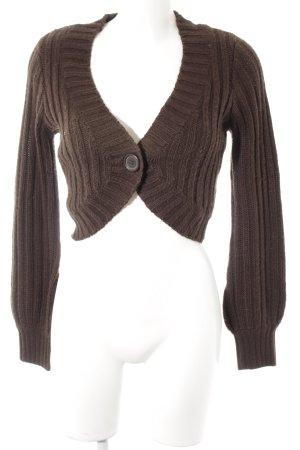 H&M Knitted Bolero dark brown casual look