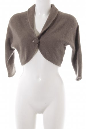 H&M Knitted Bolero light brown weave pattern casual look