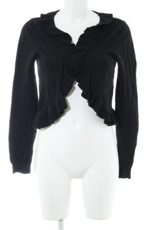 H&M Torera de punto negro estilo romántico