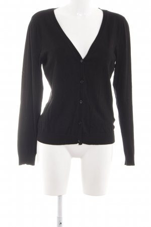 H&M Strickjacke schwarz Casual-Look