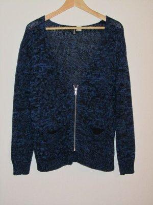 H&M Strickjacke blau/schwarz Gr.38