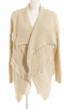 H&M Strickjacke creme Webmuster Casual-Look