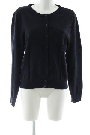 H&M Strickjacke dunkelblau schlichter Stil