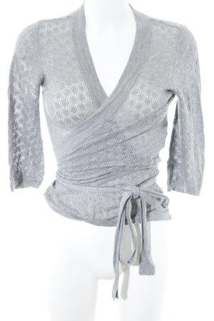 H&M Strickjacke grau abstraktes Muster schlichter Stil