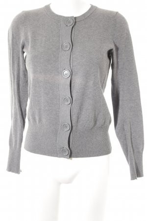 H&M Strickjacke grau Casual-Look