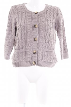 H&M Strickjacke grau Kuschel-Optik