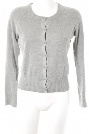 H&M Strickjacke hellgrau Casual-Look