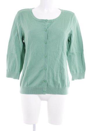 H&M Strickjacke hellgrün schlichter Stil