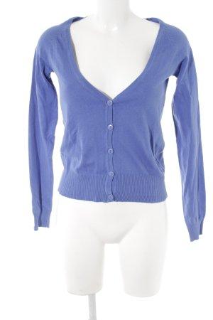H&M Strickjacke kornblumenblau schlichter Stil
