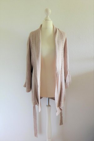 H&M Strickjacke Longstrickjacke Cardigan Bindeband rose nude Gr. L 40 42