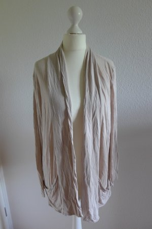 H&M Strickjacke Longstrickjacke nude rose Gr. 36