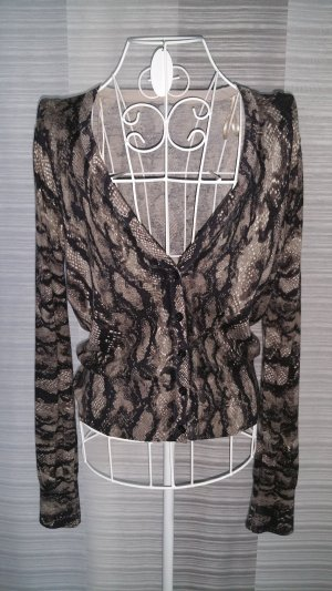 H&M Strickjacke mit Animal Print