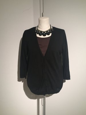 H&M Strickjacke mit Shirt Gr.XL Set Cardigan schwarz