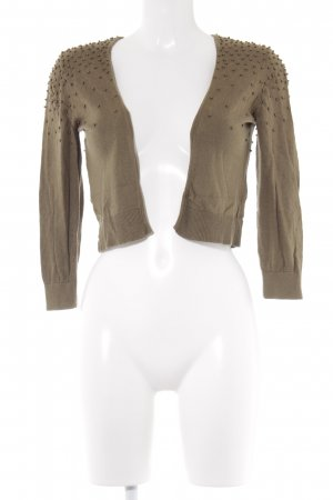 H&M Strickjacke olivgrün Casual-Look