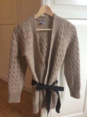 H&M Strickjacke Pullover Cardigan Dunkelbeige Größe S