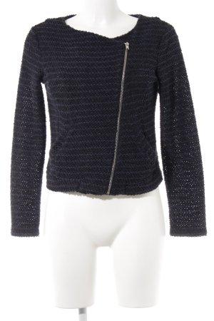 H&M Strickjacke schwarz-dunkelblau Streifenmuster klassischer Stil
