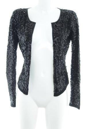 H&M Veste en tricot noir élégant