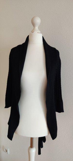 H&M Strickjacke schwarz mit Gürtel XS